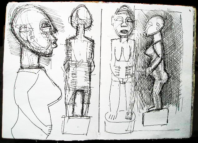 African carving - Sketchbook
