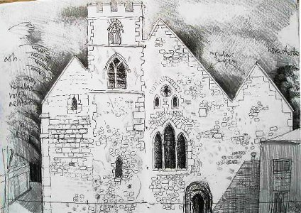 St Ebbes church - Sketchbook