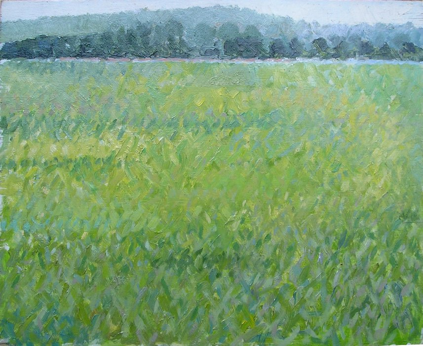 Grass, oil, 1980