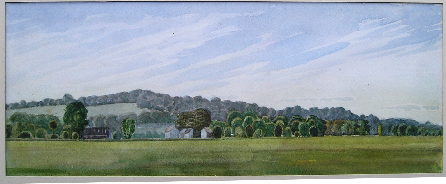 Binsey & Wytham watercolour